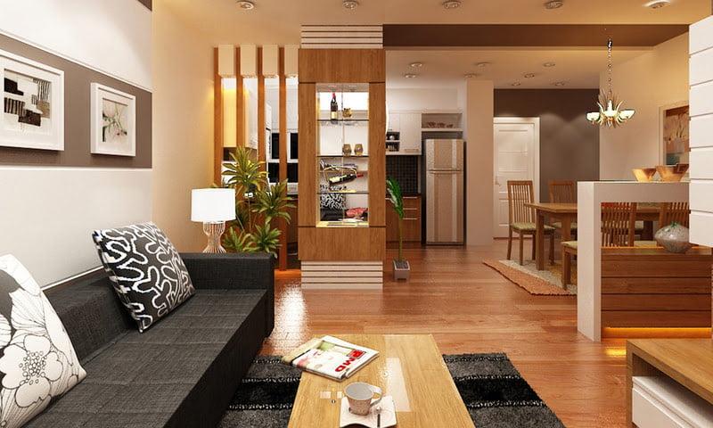 vách ngăn gỗ phòng khách-2