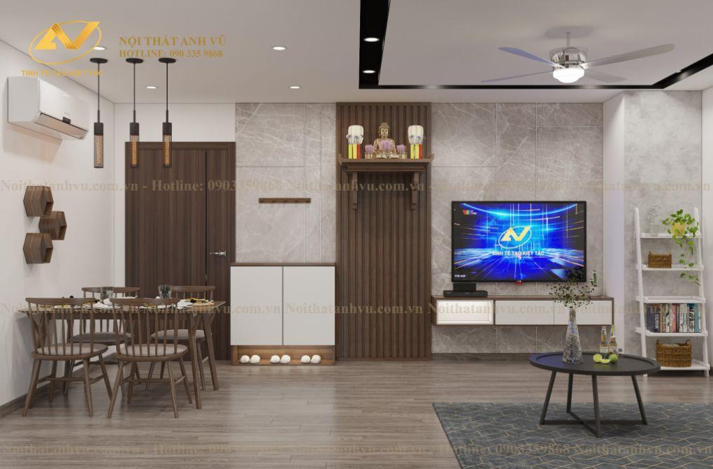Thiết kế nội thất chung cư Mr Thành - Eurowindown Đông Trù 3
