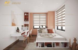 Thiết kế nội thất chung cư phòng ngủ Mrs Nguyên - Long Biên 1