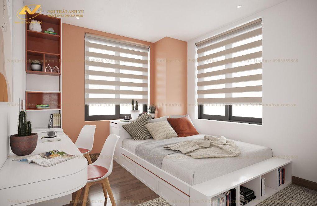 Thiết kế nội thất chung cư phòng ngủ Mrs Nguyên - Long Biên 2