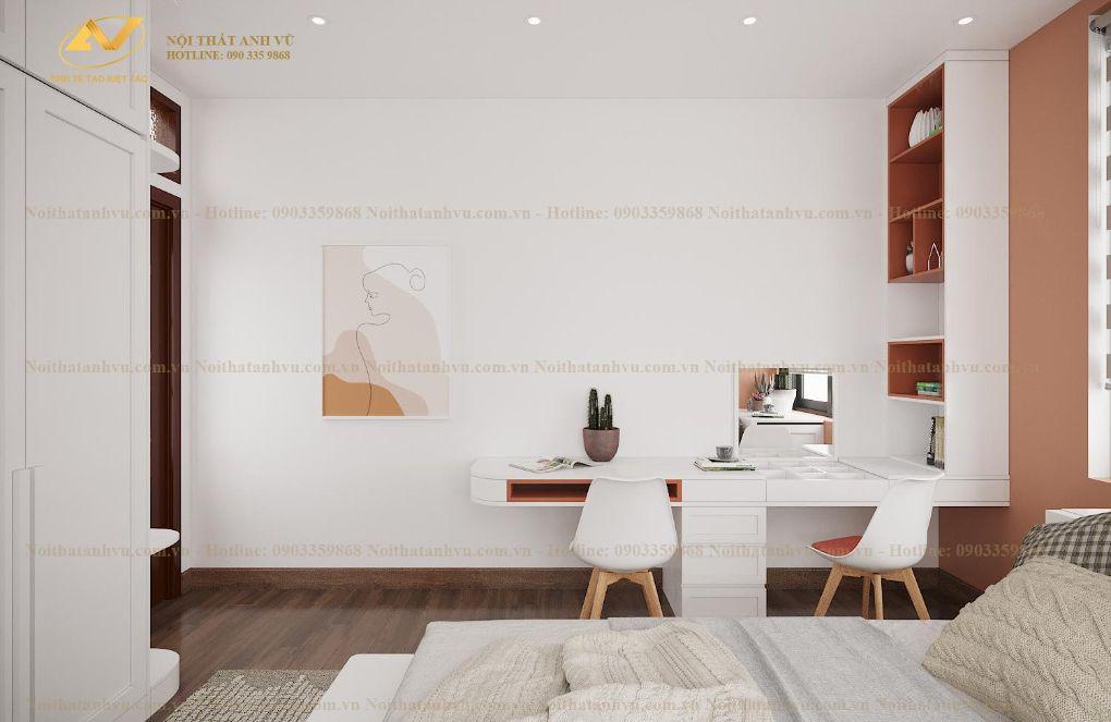Thiết kế nội thất chung cư phòng ngủ Mrs Nguyên - Long Biên 3