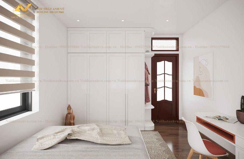 Thiết kế nội thất chung cư phòng ngủ Mrs Nguyên - Long Biên 4
