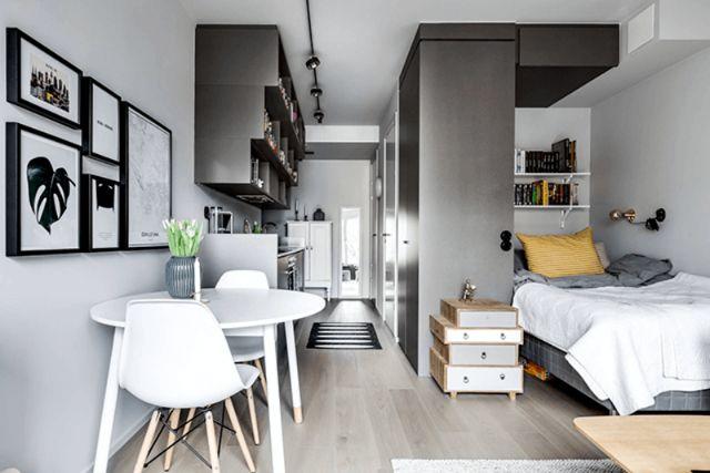 phòng ăn và phòng bếp nối liền