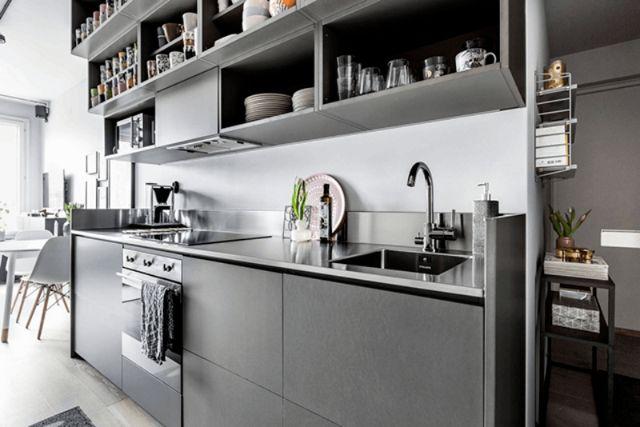 phòng ăn và phòng bếp nối liền 2
