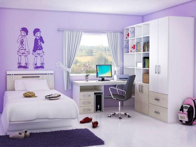 phòng ngủ cho bé gái 15 tuổi 3