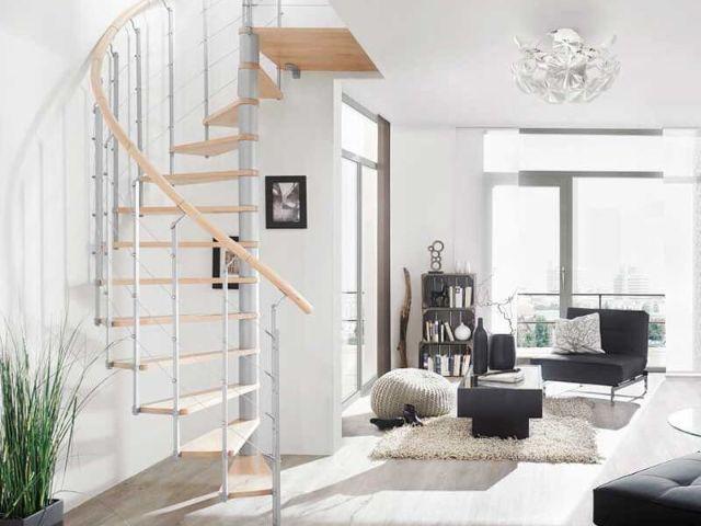 Cầu thang cho thiết kế nhà diện tích nhỏ 20m2