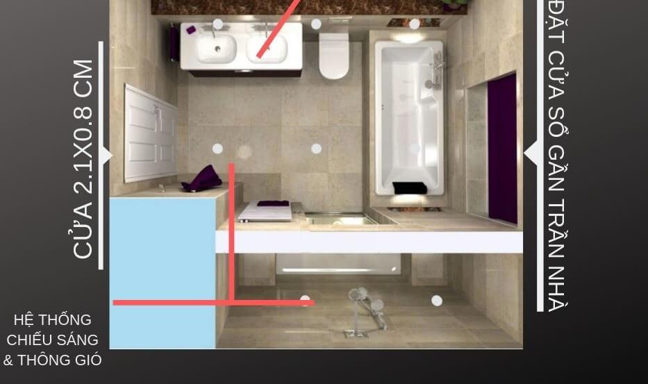 thiết kế nhà vệ sinh nhỏ đẹp 2