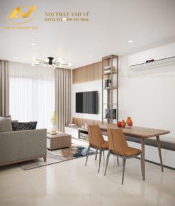 Thiết kế nội thất chung cư Mrs Lê 3