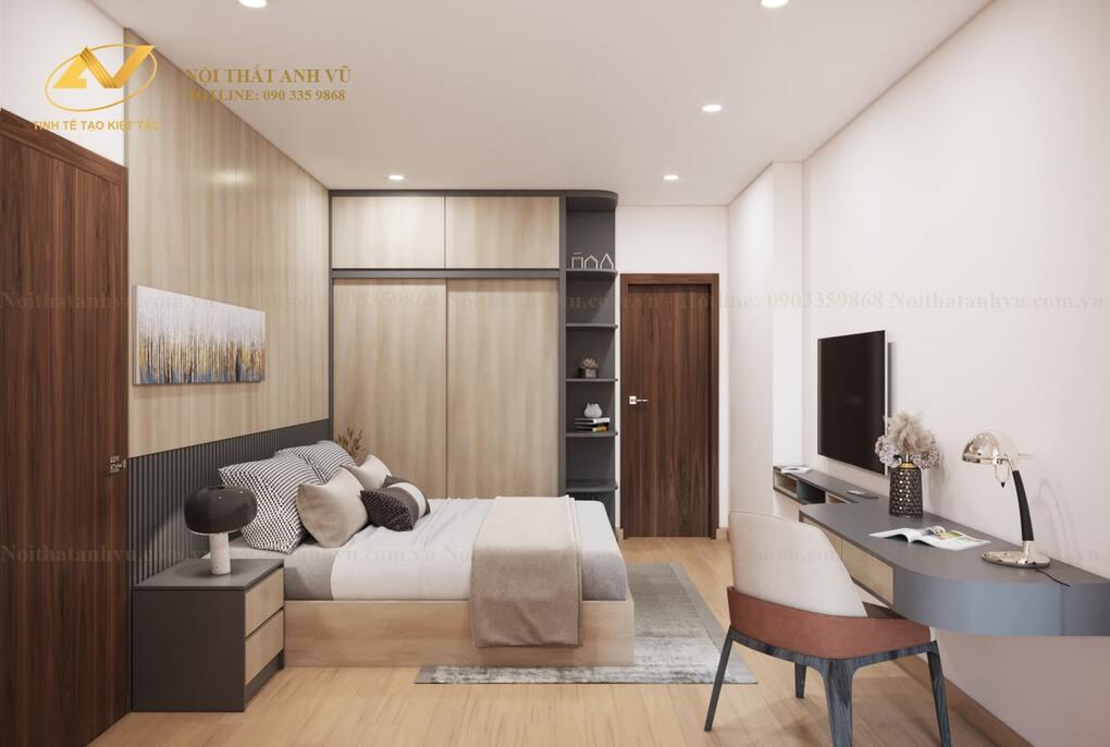 thiết kế nội thất phòng ngủ master 2