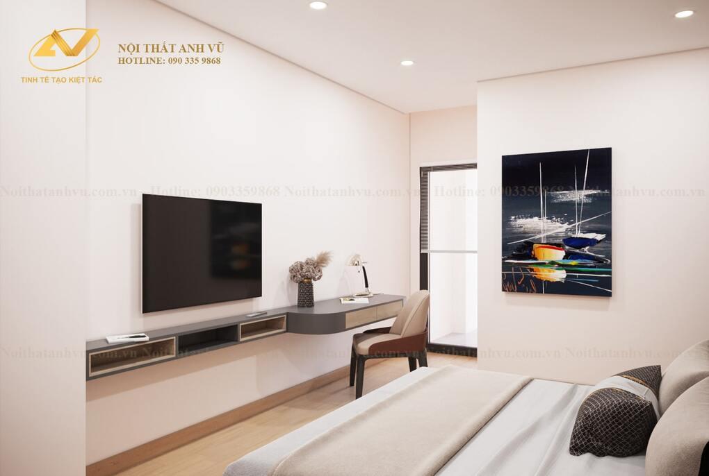 thiết kế nội thất phòng ngủ master 3
