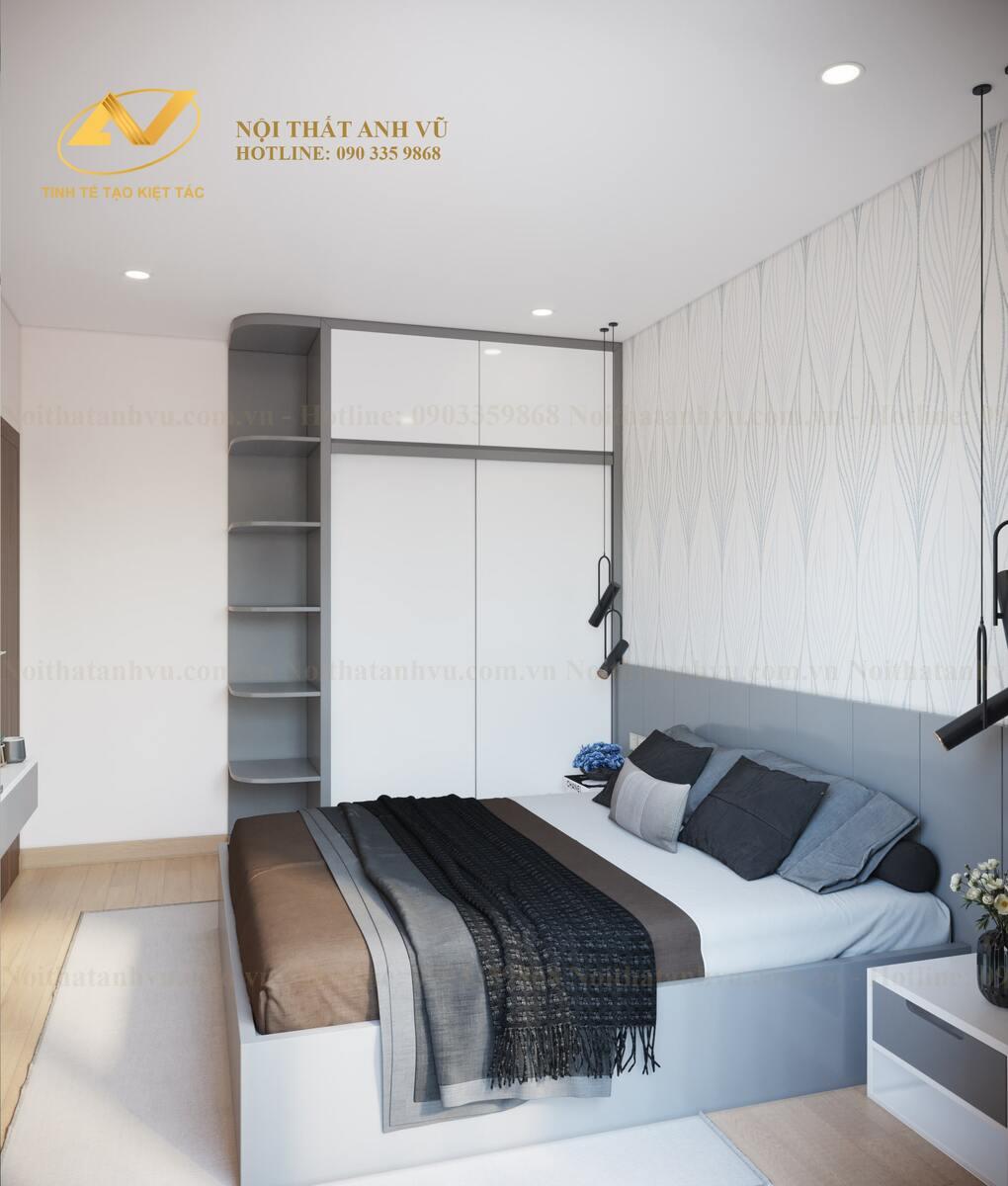 thiết kế nội thất phòng ngủ cho bố mẹ 2
