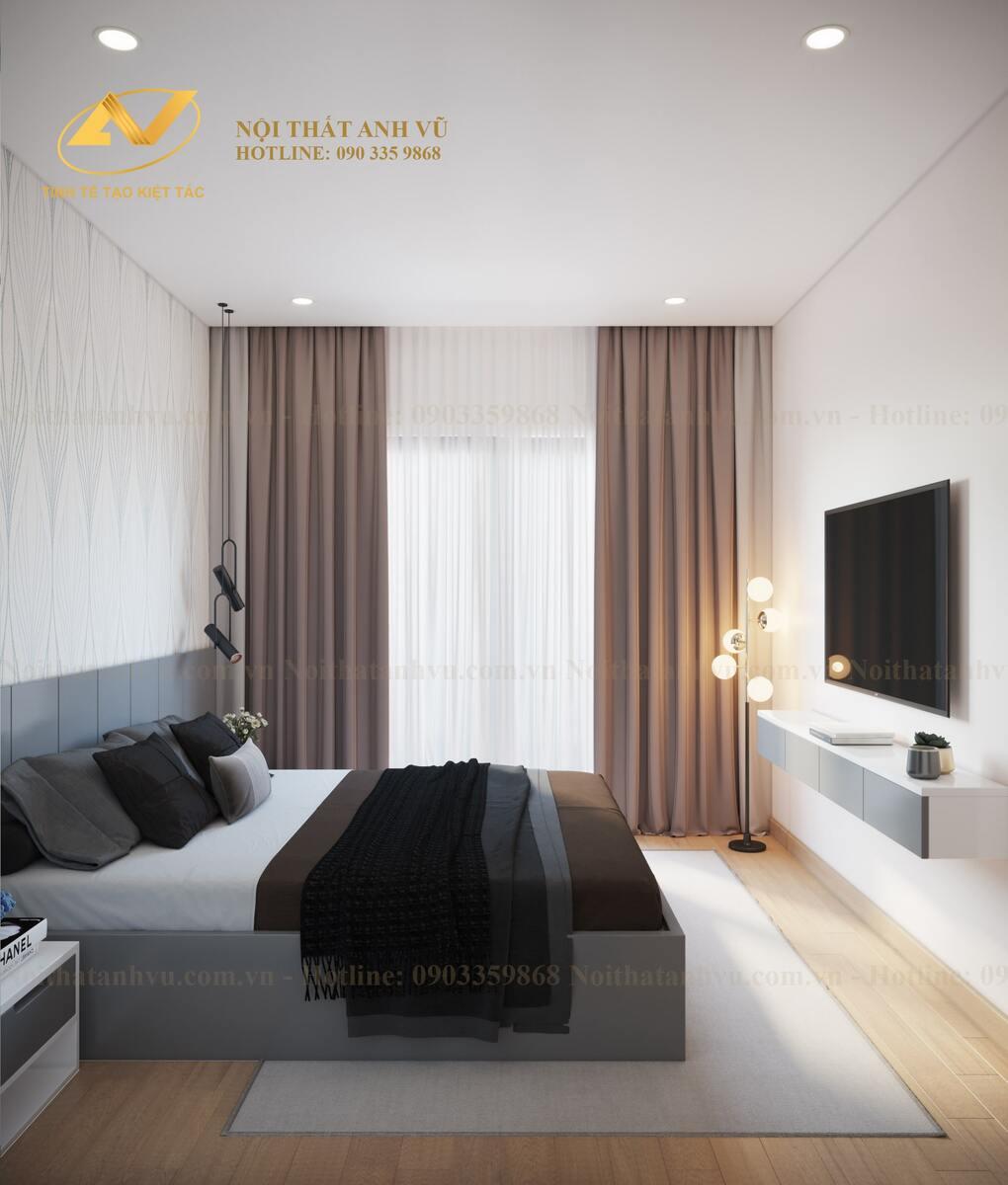 thiết kế nội thất phòng ngủ cho bố mẹ 3