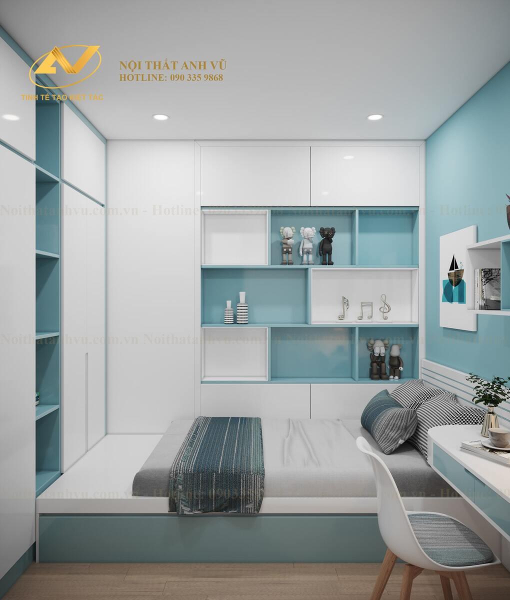 thiết kế nội thất phòng ngủ bé trai 1