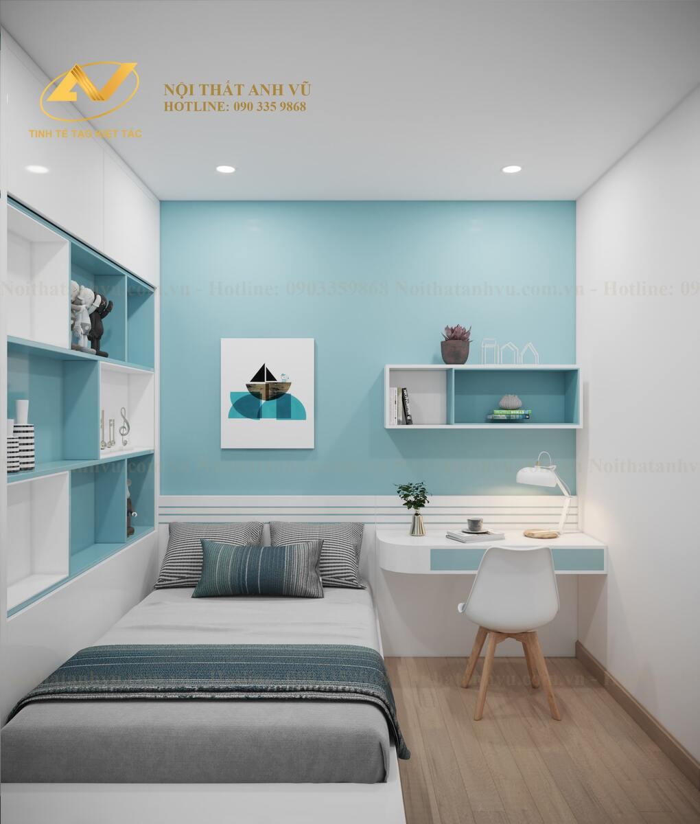 thiết kế nội thất phòng ngủ bé trai 2