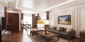Thiết kế nội thất chung cư Mr Việt – Trung Kính 1