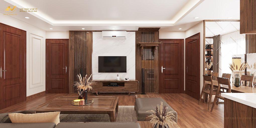 Thiết kế nội thất chung cư Mr Việt – Trung Kính 3