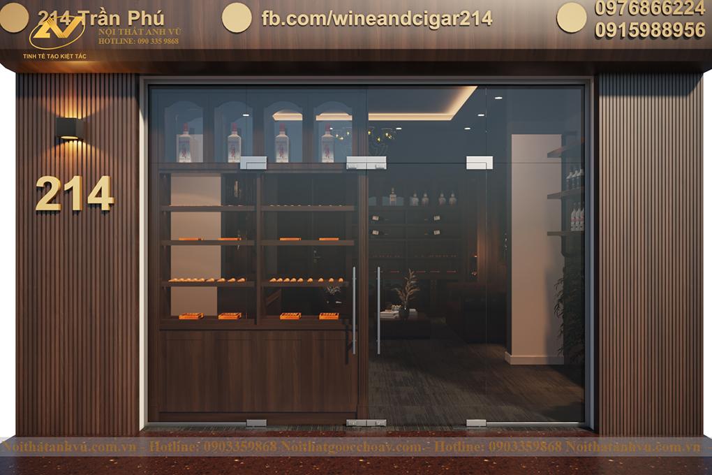 Thiết kế nội thất showroom Cigar Hà Giang 2