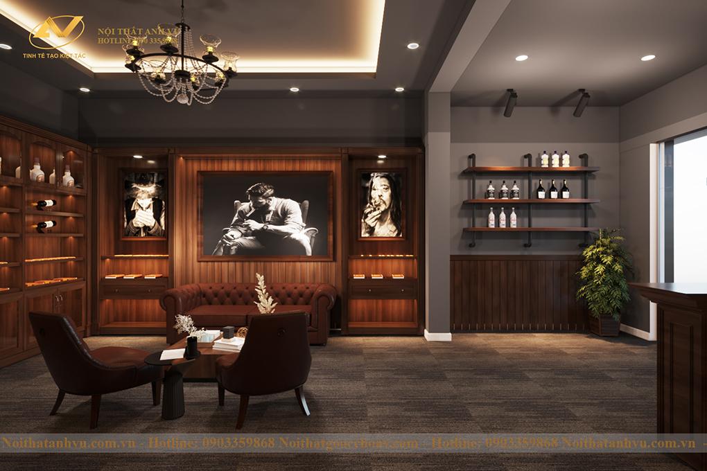 Thiết kế nội thất showroom Cigar Hà Giang 3