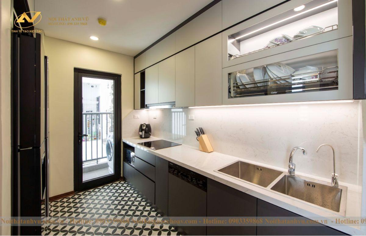 Hoàn thiện nội thất chung cư ngoại giao đoàn 83m2 anh Ngọc-5
