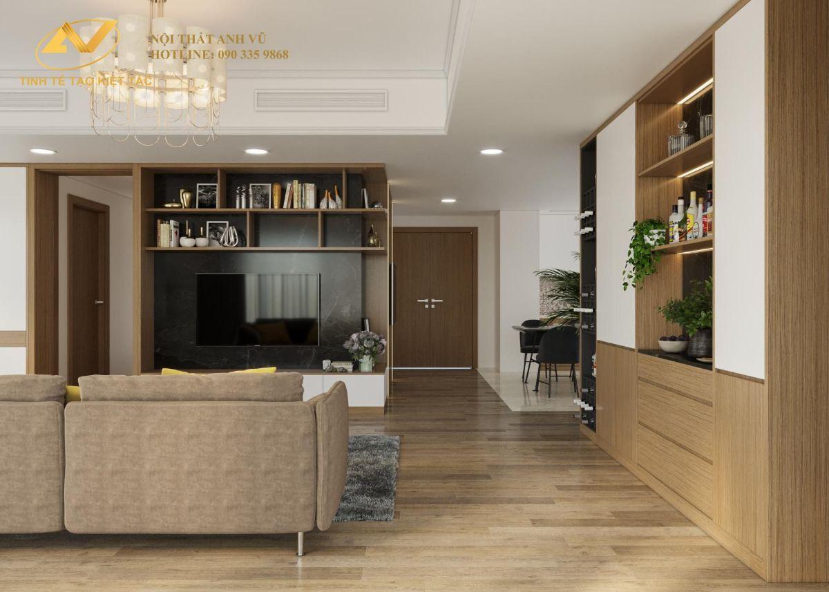 thiết kế nội thất chung cư cao cấp Anh Hưng The Zen gamuda land 1