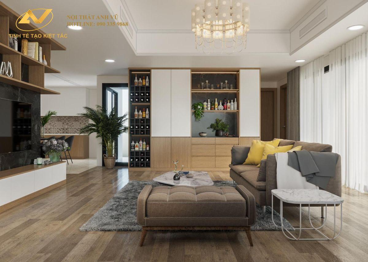 thiết kế nội thất chung cư cao cấp Anh Hưng The Zen gamuda land 2