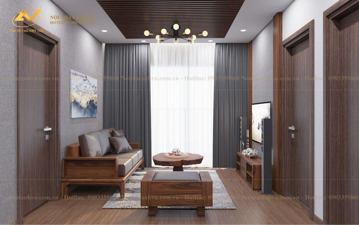 thiết kế nội thất chung cư cao cấp Anh Phước The Zen - Gamuda land 1