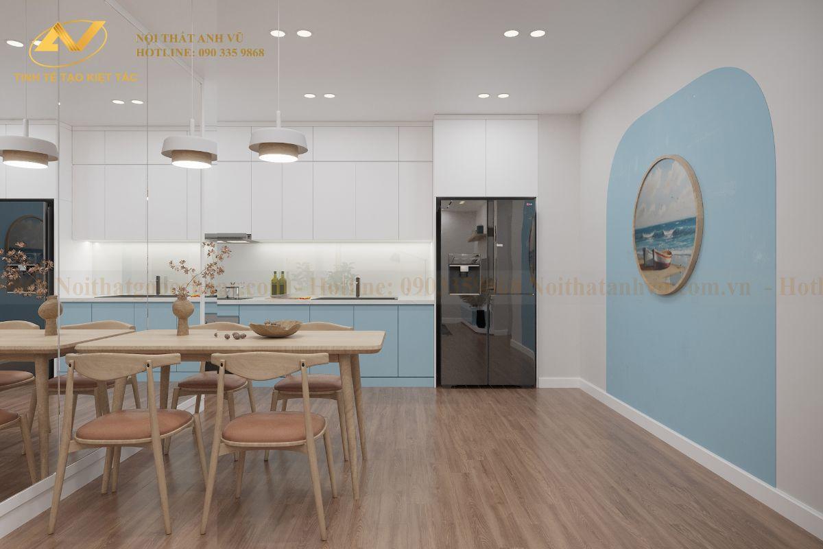 Thiết kế nội thất chung cư 68m2 Anh Cường K35 Tân Mai phong ăn 3