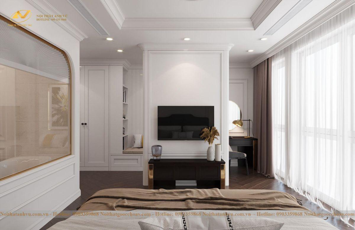 Thiết kế nội thất nhà phố tân cổ điển Mr Huy tầng 4-15