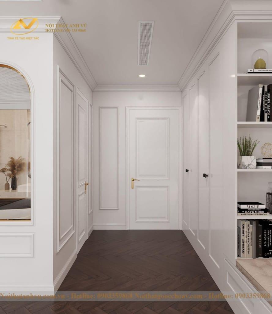 Thiết kế nội thất nhà phố tân cổ điển Mr Huy tầng 4-17