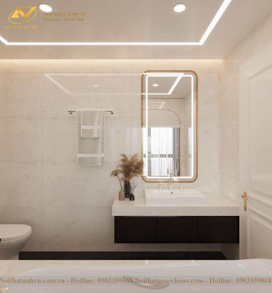 Thiết kế nội thất nhà phố tân cổ điển Mr Huy tầng 4-19