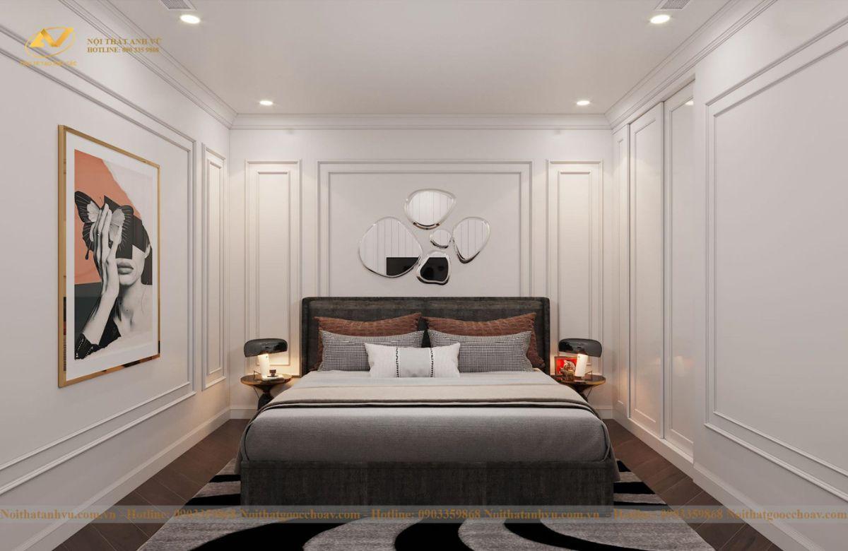 Thiết kế nội thất nhà phố tân cổ điển Mr Huy tầng 4-20