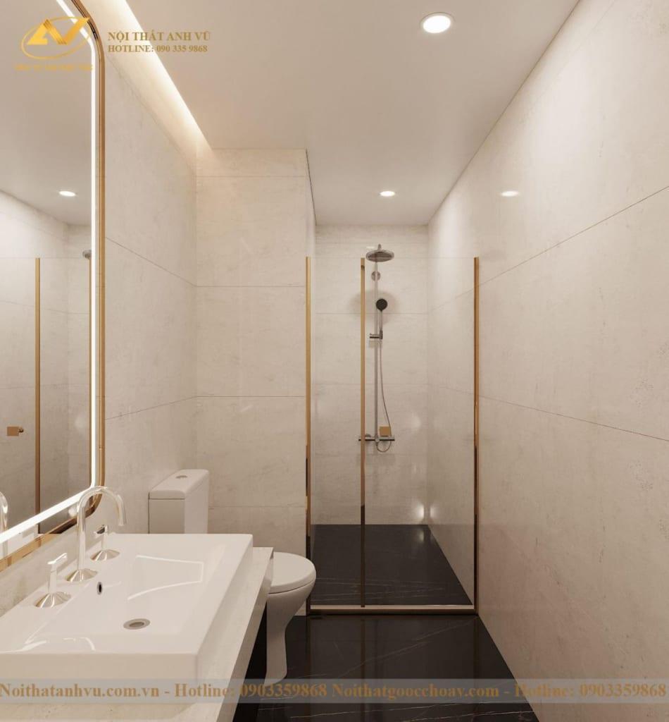Thiết kế nội thất nhà phố tân cổ điển Mr Huy tầng 4-22