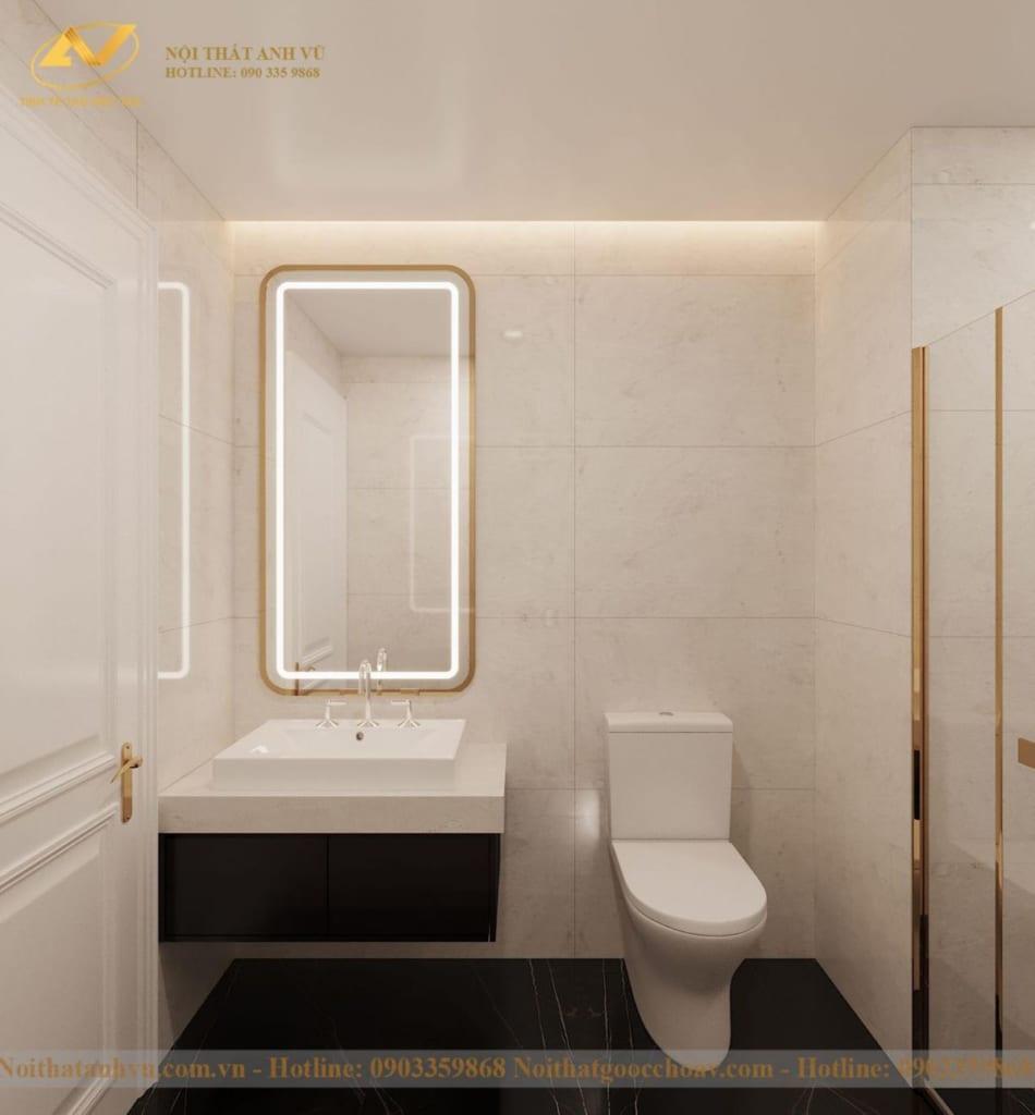 Thiết kế nội thất nhà phố tân cổ điển Mr Huy tầng 4-23