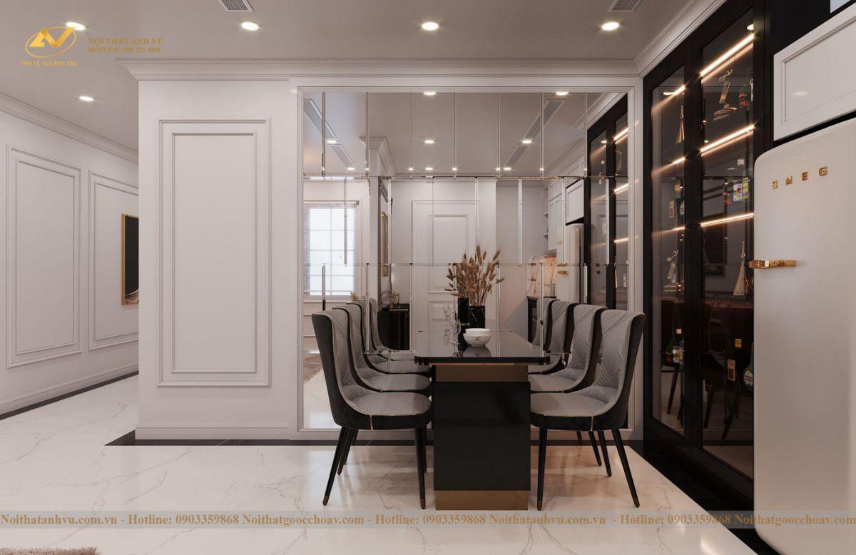 Thiết kế nội thất nhà phố tân cổ điển Mr Huy tầng 4-7
