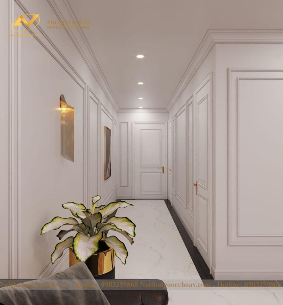 Thiết kế nội thất nhà phố tân cổ điển Mr Huy tầng 4-8