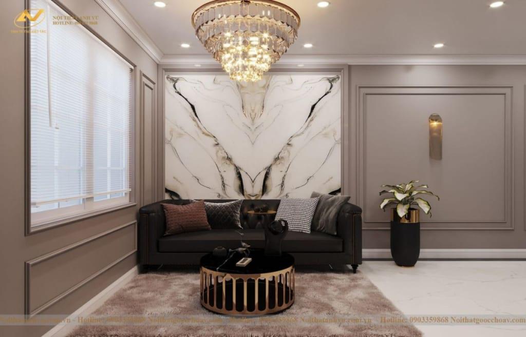 Thiết kế nội thất nhà phố tân cổ điển Mr Huy tầng 4-27