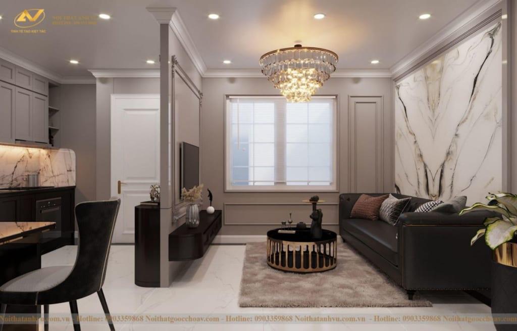 Thiết kế nội thất nhà phố tân cổ điển Mr Huy tầng 4-28