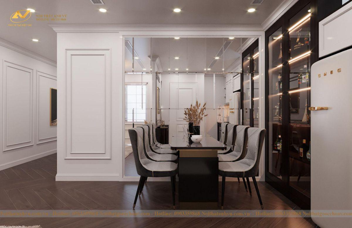 Thiết kế nội thất nhà phố tân cổ điển Mr Huy tầng 4-33