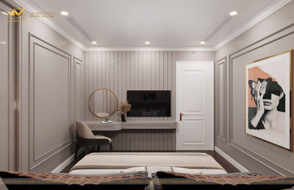 Thiết kế nội thất nhà phố tân cổ điển Mr Huy tầng 4-41