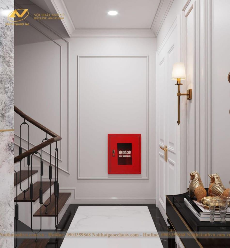 Thiết kế nội thất nhà phố tân cổ điển Mr Huy tầng 4-46