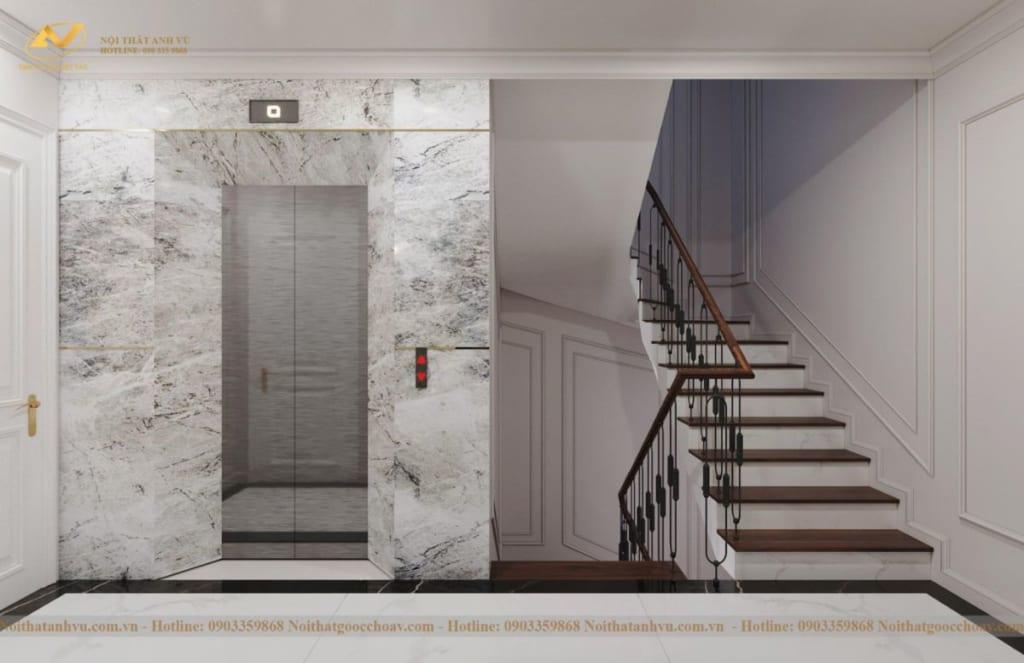 Thiết kế nội thất nhà phố tân cổ điển Mr Huy tầng 4-47