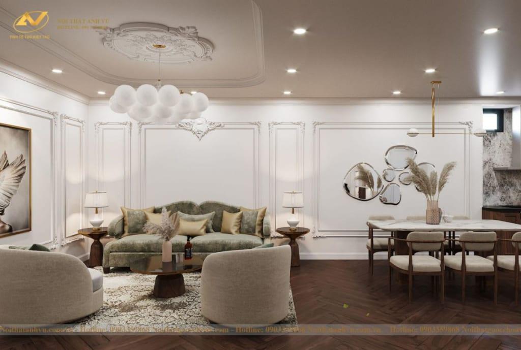 Thiết kế nội thất nhà phố tân cổ điển Mr Huy tầng 4-51