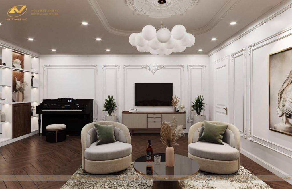 Thiết kế nội thất nhà phố tân cổ điển Mr Huy tầng 4-53