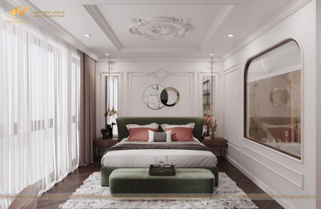 Thiết kế nội thất nhà phố tân cổ điển Mr Huy tầng 4-56