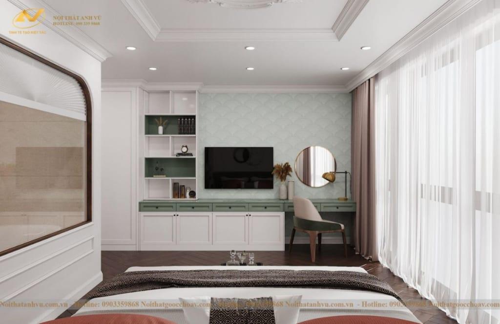 Thiết kế nội thất nhà phố tân cổ điển Mr Huy tầng 4-34