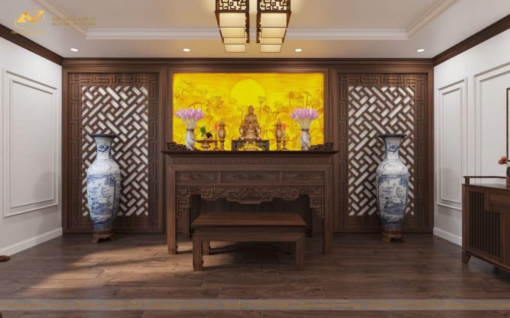 Thiết kế nội thất nhà phố tân cổ điển Mr Huy tầng 4-60