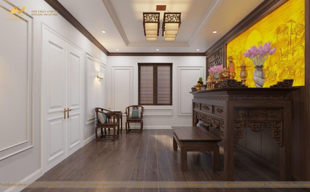 Thiết kế nội thất nhà phố tân cổ điển Mr Huy tầng 4-61