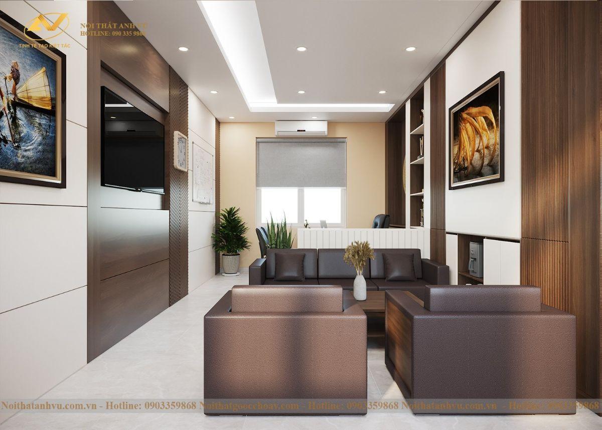 Thiết kế nội thất phòng khách hiệu trưởng 2