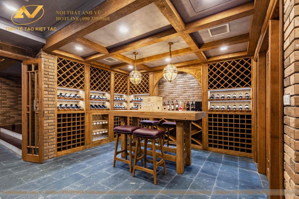 phòng rượu tầng hầm 1