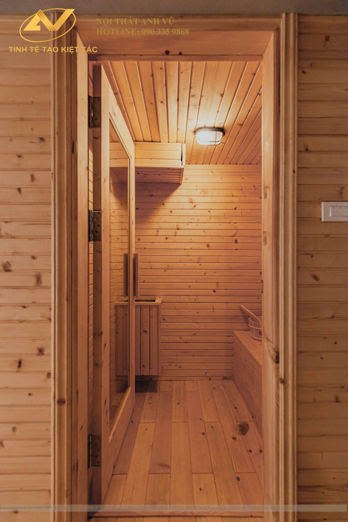 Thiết kế nội thất phòng xông hơi 2